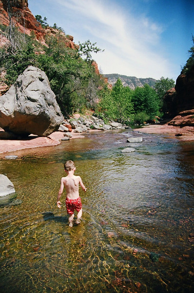 Next, we went to Slide Rock State Park, outside of Sedona, Arizona. Beautiful rocks, clear water and lots of sun! May 2013.