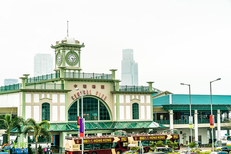 Central Pier in Hong Kong