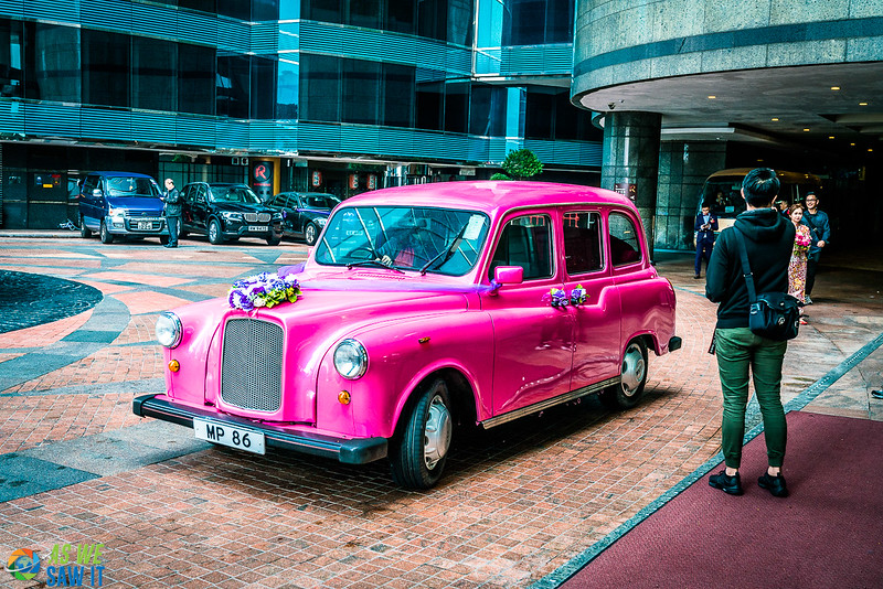 For those not on a budget a pink Rolls Royce could be the transportation you need.