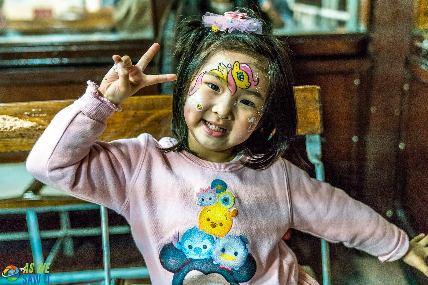 face painting hong kong style