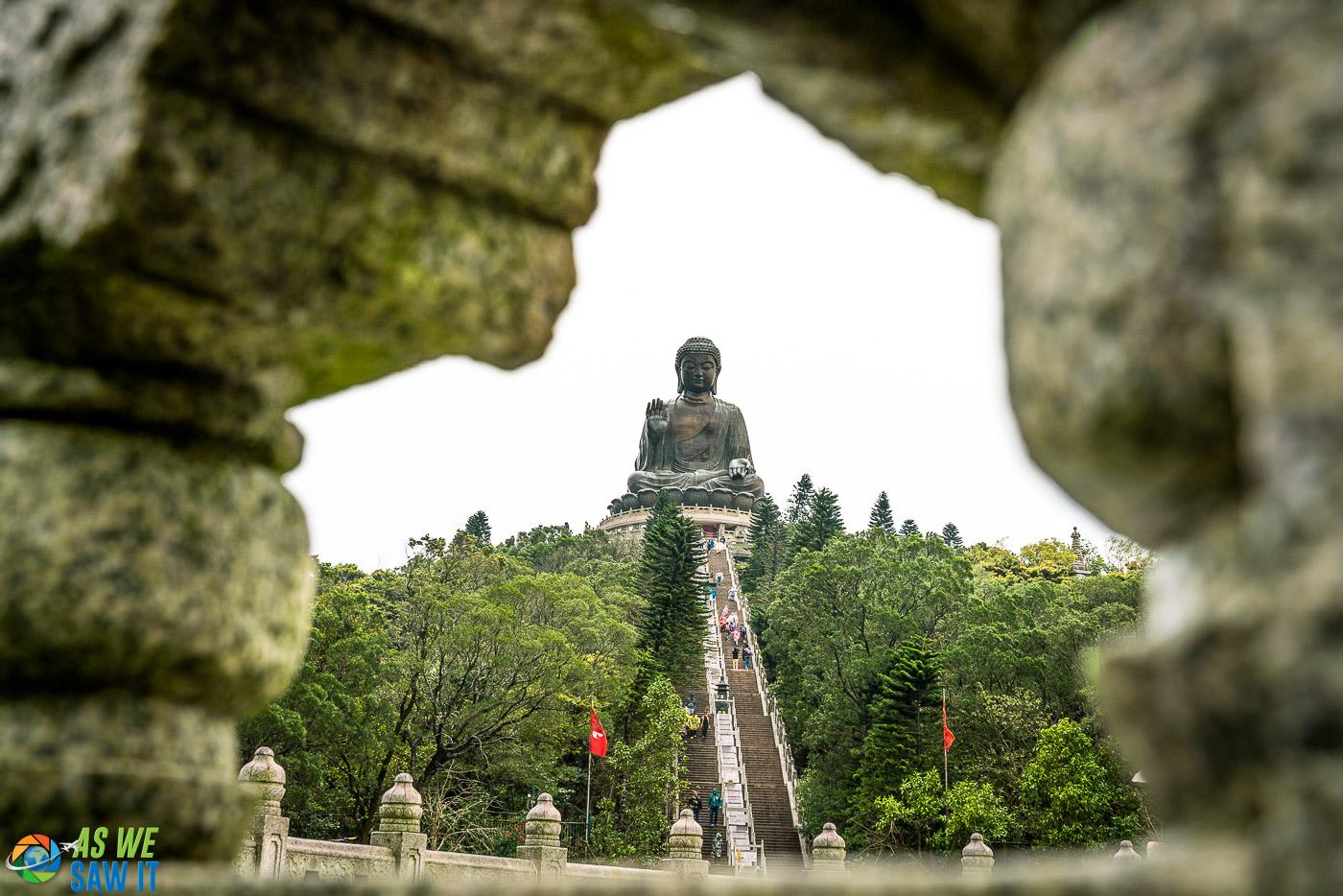 the big Buddha at po lin monastery