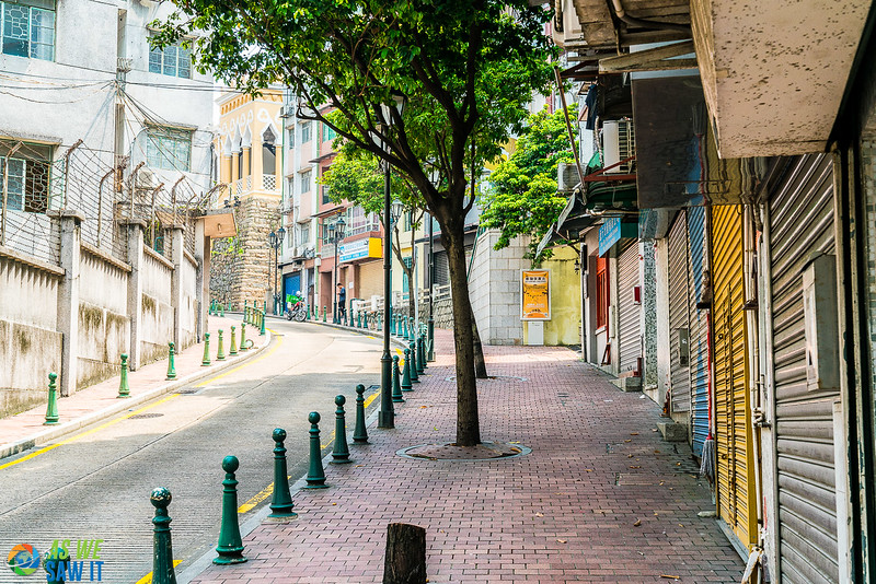 Be prepared for walking in Macao as many road have a steep climb.