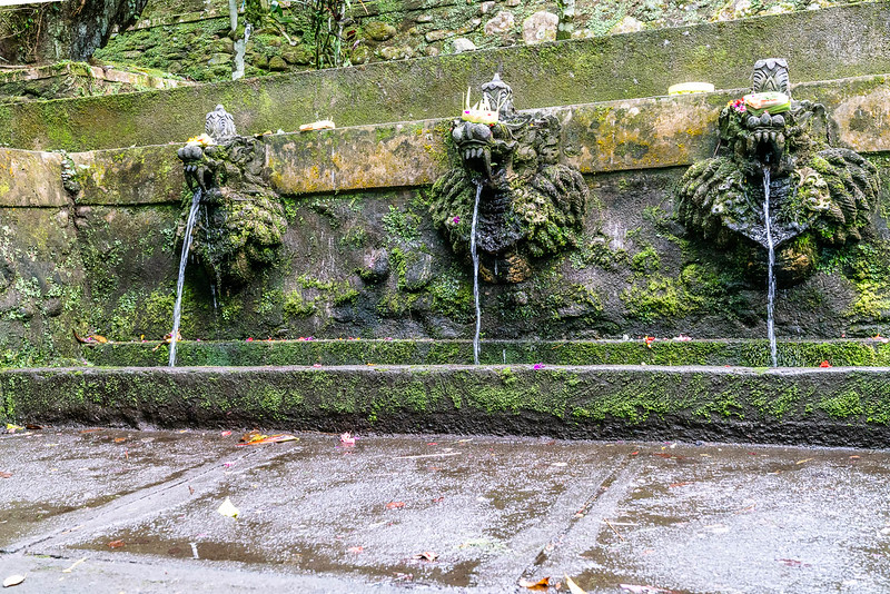 Purifying fountains at Batukaru