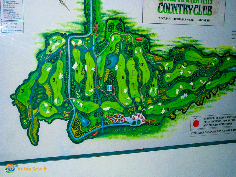 map of Handara golf course