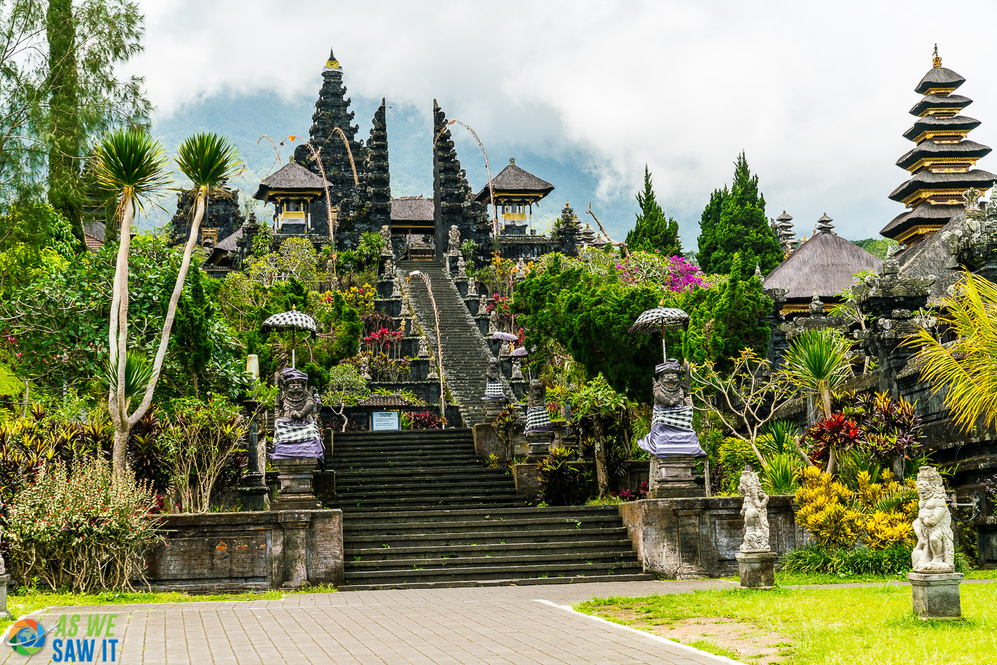 The mother temple of Pura Besakih with no tourists.