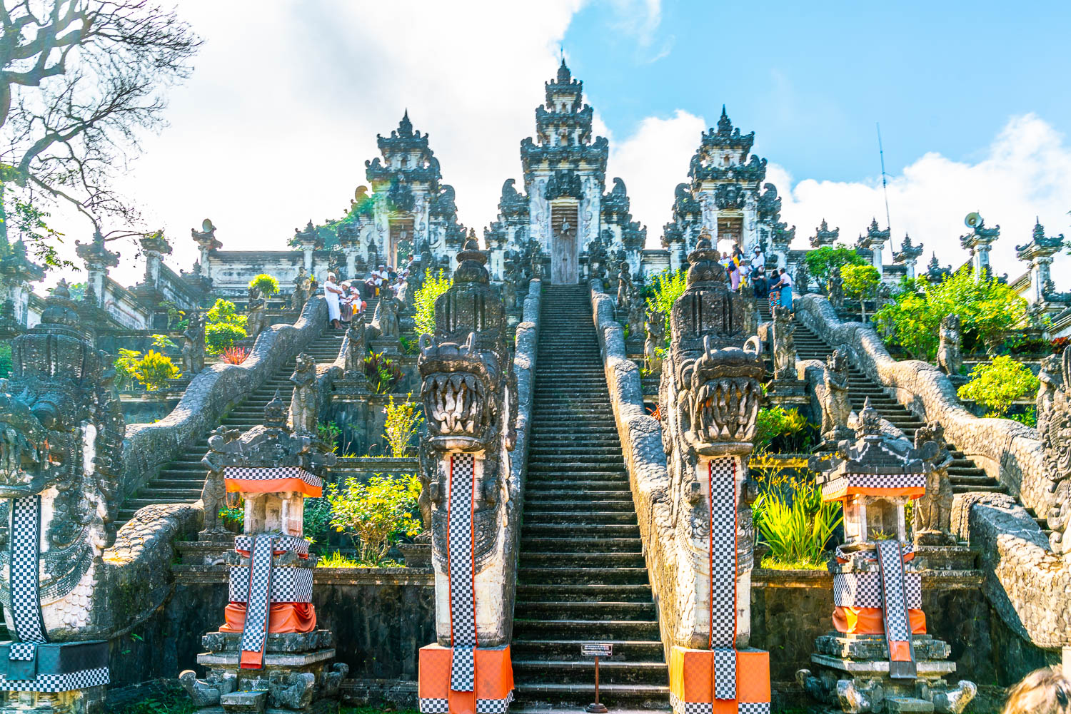 Stairs to the adjacent temples of Pura Lempuyang.