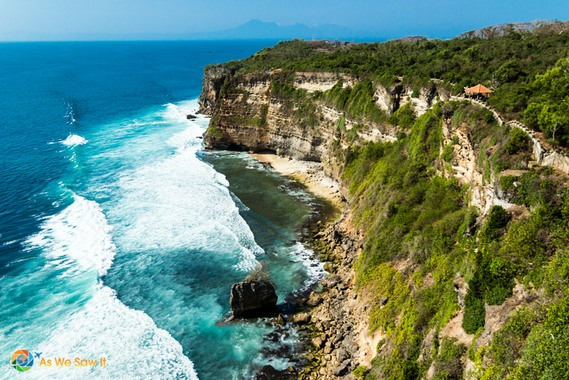 Pura Uluwatu is at the top of a cliff on the southern coast of Bali