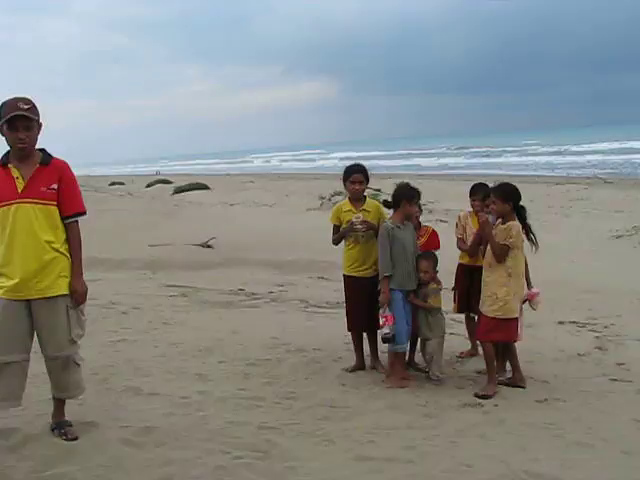 Children on beach in East Nusa Tenggara
