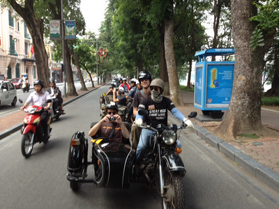 Ural Side Car tour of Hanoi!