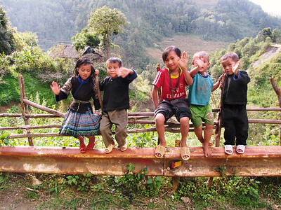 The friendly children of South East Asia