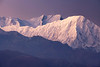 """Annapurna Sunrise VI""<br /> <br /> Golden morning light bathes the summit ridges of Tilicho Peak (front) and massive Annapurna, viewed here from the north. It is from this side that the French made the first ascent of an 8,000m peak in 1950. After having read so much about the famous mountain, it was truly a special moment to finally be able to marvel at its size and feel its ""presence"". Annapurna from Syanboche Hills, Mustang, Nepal."