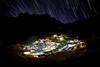 """""""Namche Bazaar at Night"""", the Sherpa capital."""