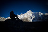"""""""Scenes from the Khumbu XIV""""<br /> <br /> Everest, 8848 m and Nuptse, 7864 m."""