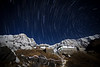 """Annapurna Trails II""<br /> <br /> Natural and man-made streaks of light meet in the Himalayan night at Annapurna base camp."
