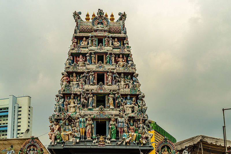 The gopura of sri mariammam temple