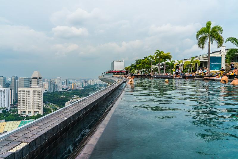 Marina Bay Sands pool.