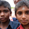 Two young boys from the village