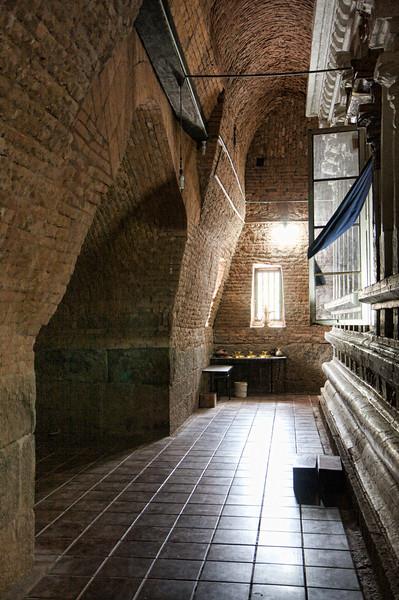 Brickwork of the brick temple