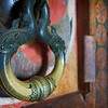 Fish door knocker at the stone temple