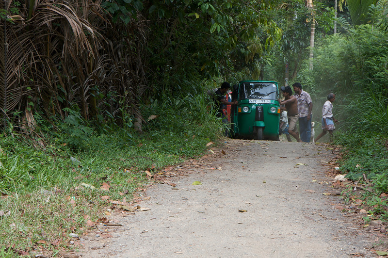 Pushing the tuk tuk up the Big Bad Hill