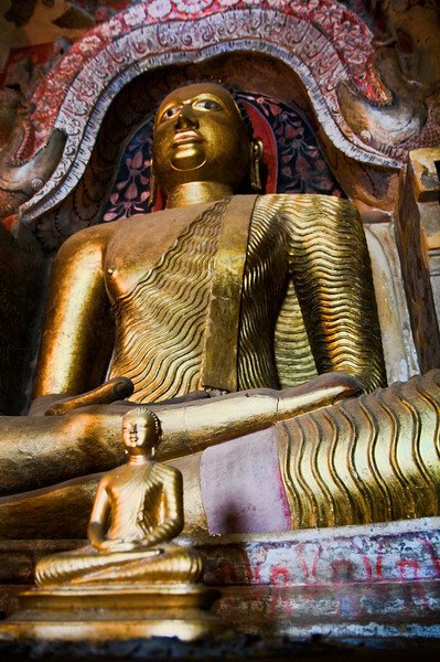 Golden Buddha at the stone temple