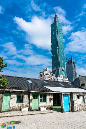 taipei 101 from old town area