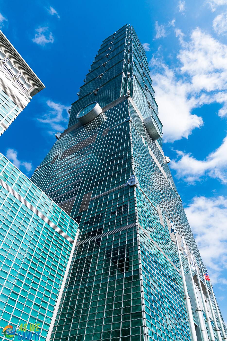 looking up upon Taipei 101
