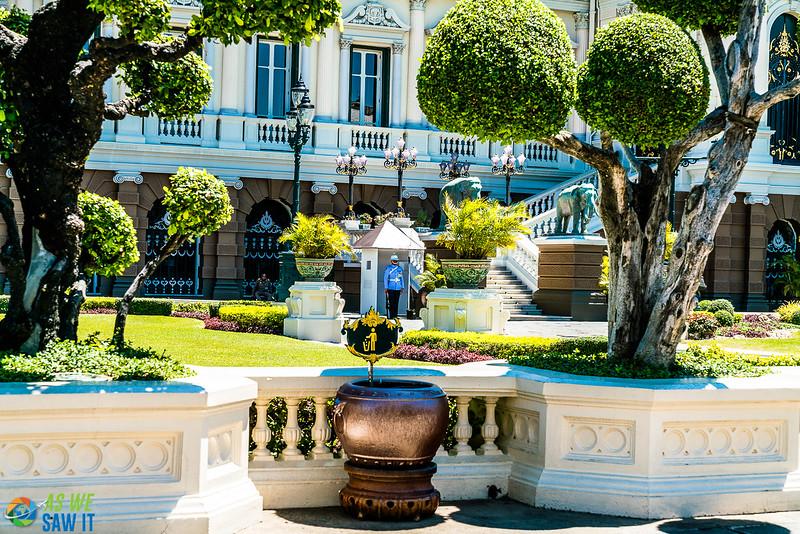 The royal palace at grand palace home of the royal thai family