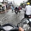 tour, phone, motorbike, saigon, rain