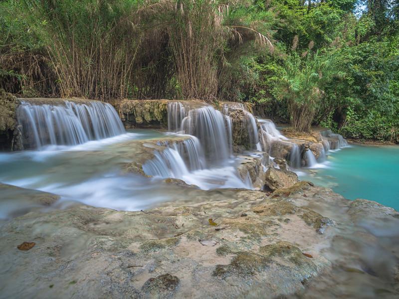Falling water everywhere at Kuang Si