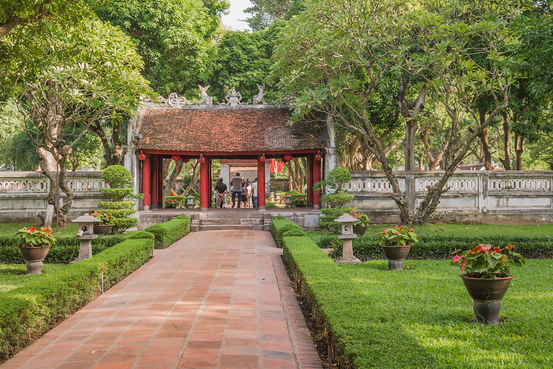 Courtyard and gate at the Temple of Literature