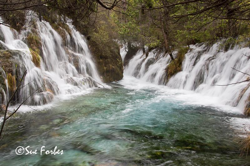 Waterfall at Jiuzhai Valley National Park, Sichuan, China
