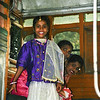 Girl on bus in Calcutta<br /> Girl all dressed up on a bus in Calcutta, India