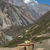 Remote dining near Yak Kharka, Annapurna circuit, Nepal