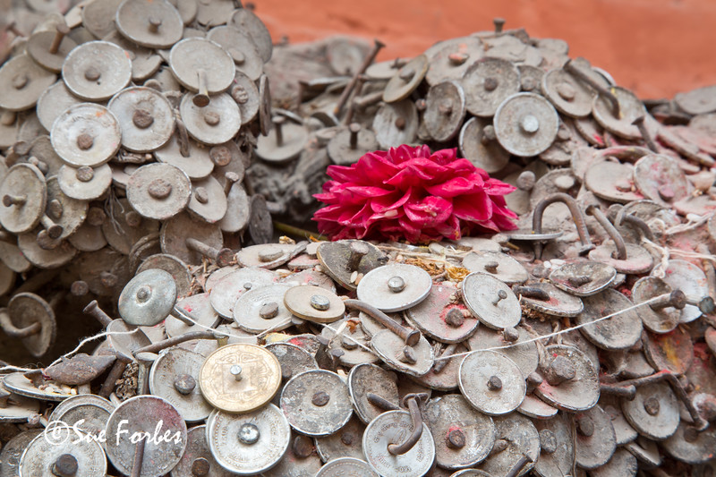 Offerings to the toothache god, Kathmandu, Nepal