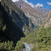 Marsyangdi River near Chame, Annapurna circuit, Nepal