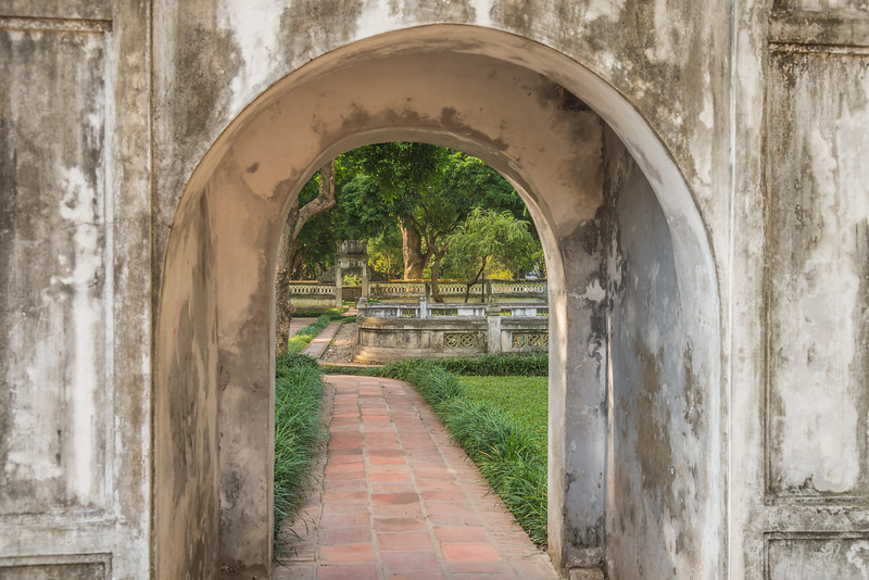 A garden beyond the gate