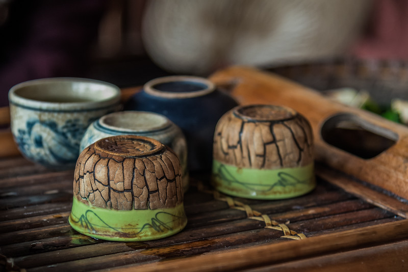 Tea time in Duong Lam village