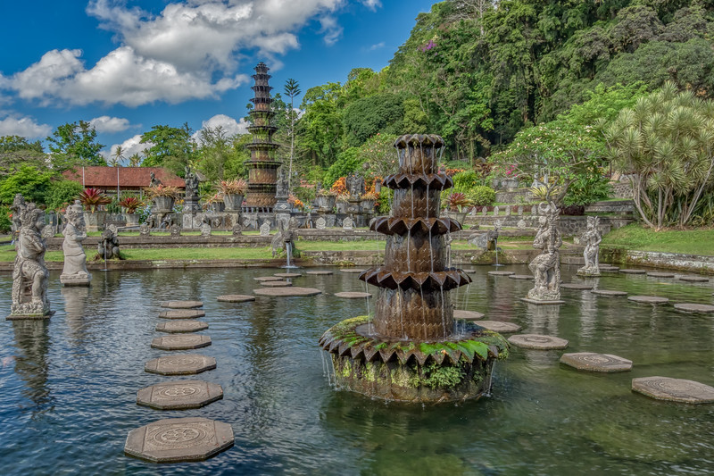 Fountains at Taman Tirta Gangga, Bali