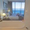 A bathtub with a view