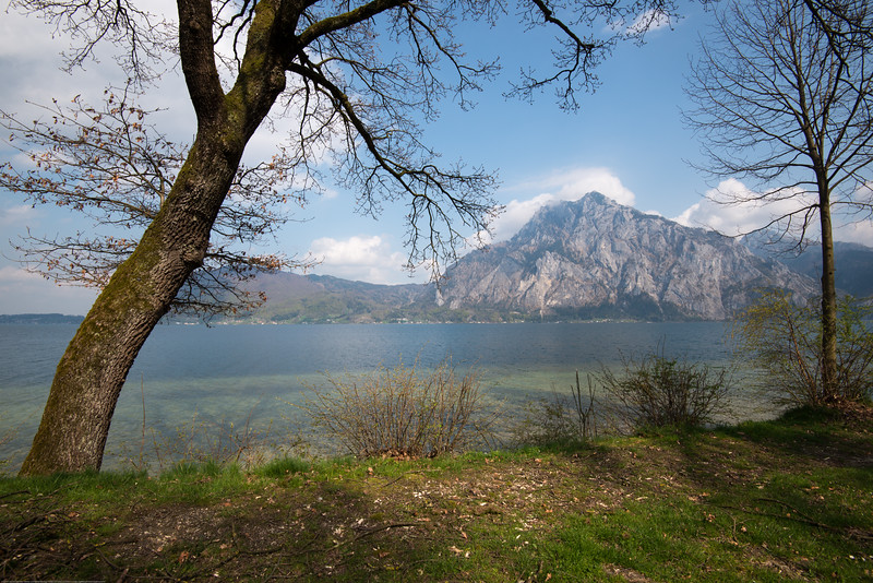Beautiful view of the lake at Altmünster, Austria.