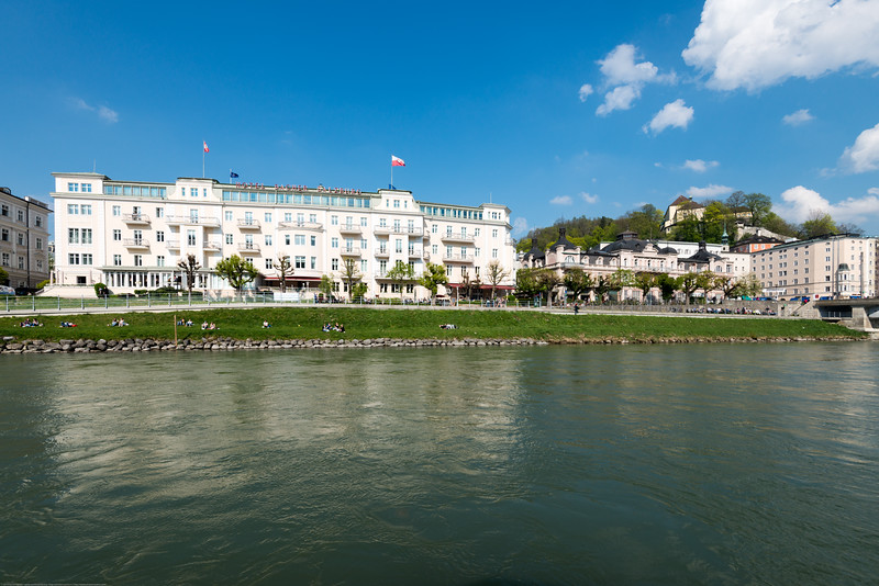 Multi million euro homes along the river. Salzach Cruise offers passengers an extraordinary view of the city and its scenic vistas.