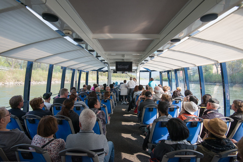 Salzach Cruise offers passengers an extraordinary view of the city and its scenic vistas. The cruise starts at the Makart Bridge in Salzburg's historic city center and continues on a leisurely 8-kilometer cruise along Salzburg's magnificent cityscape towards Hellbrunn with a view of the stunning mountain ranges in Salzburg.