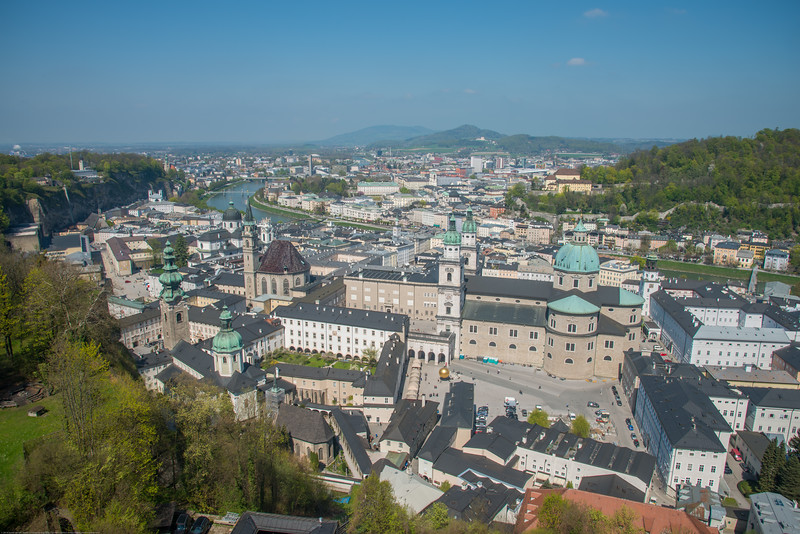 Salzburg viewed from the Festung Hohensalzburg