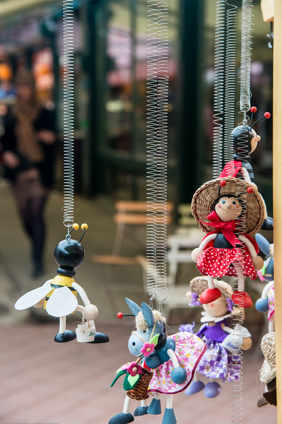 Toys and other items on sale in Vienna, Austria.