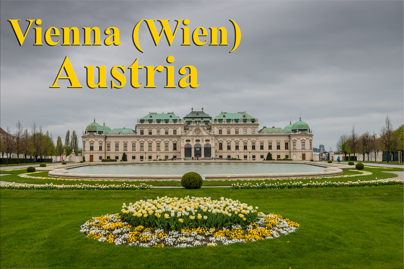 Belvedere Palace, the 18th-century palace houses art from Middle Ages to today, with notable Klimt collection. Vienna, Austria.