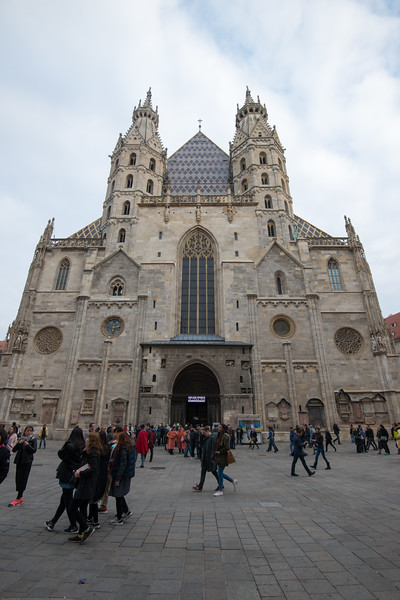 Imposing St Stephen's Cathedral, Vienna, Austria.