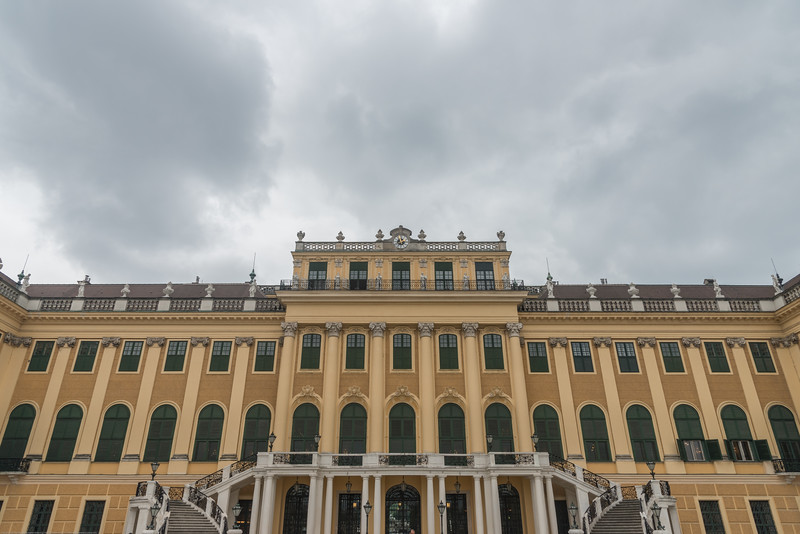 Schönbrunn Palace. 18th-century summer palace with tours of lavish rococo ceremonial rooms, plus gardens with a maze. Vienna, Austria.