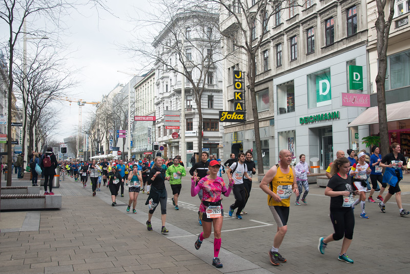 Vienna Marathon happening in the centre of Vienna, Austria.