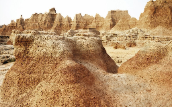 Pinnacles in the Badlands National Park, South Dakota, #0733